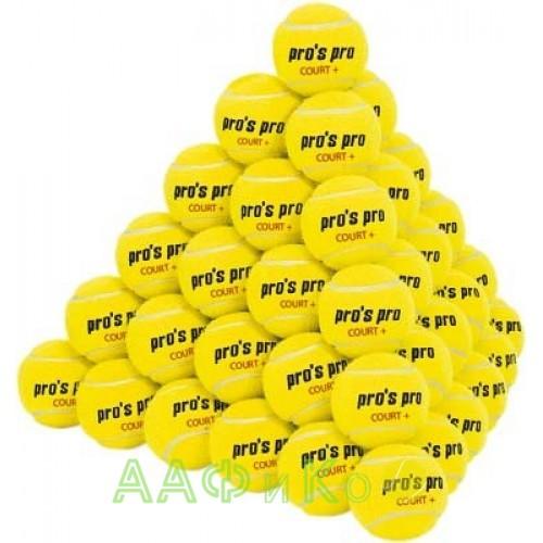 Мяч теннисный Pros Pro Court+ 60шт/уп желтые