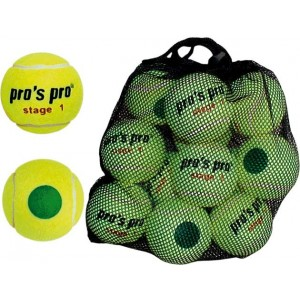 Мячи теннисные Pros Pro Stage 1 ITF approved 12шт/уп