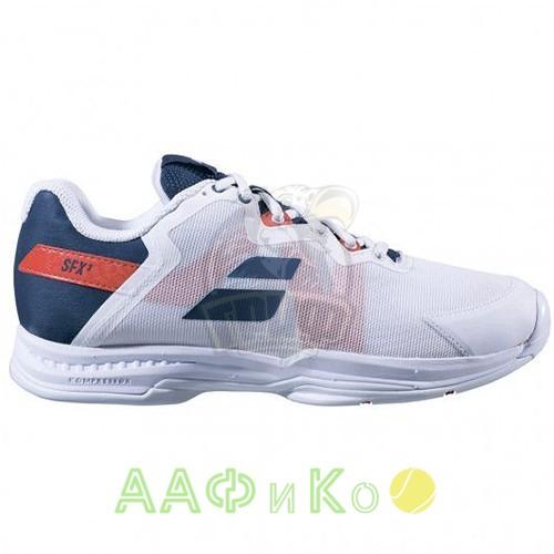 Кроссовки теннисные Babolat SFX3 ALL COURT MEN (белый/синий)