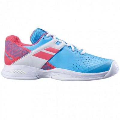 Кроссовки теннисные Babolat  PROPULSE AC JR (небесно-голубой/розовый)