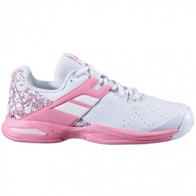 Кроссовки теннисные Babolat  PROPULSE AC JUNIOR (белый/розовый)