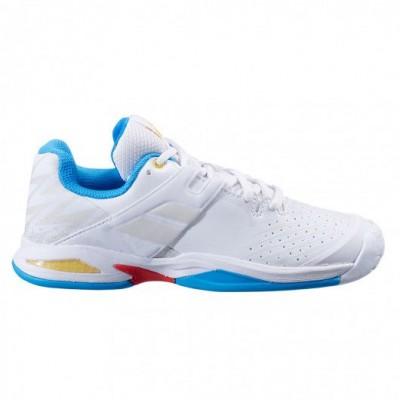 Кроссовки теннисные Babolat PROPULSE AC JUNIOR (белый/синий)