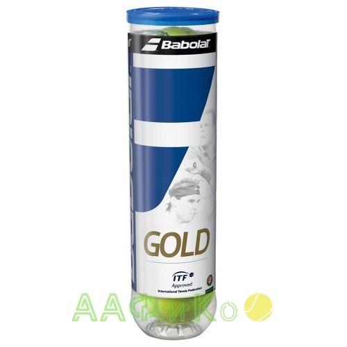 Мячи  теннисные Babolat Gold 4 шт/уп