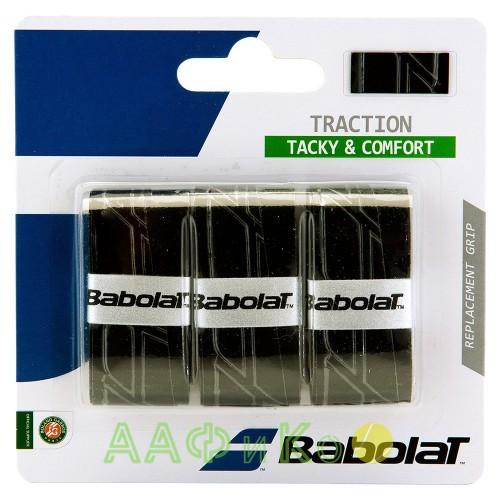 Намотка для теннисных ракеток Babolat TRACTION Х3 (чёрный) 3 шт. (653043-105)