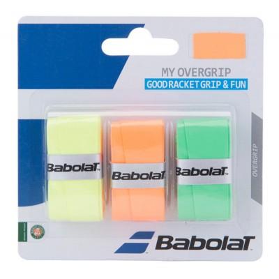 Намотка для теннисных ракеток  Babolat MY OVERGRIP X3 (оранжевый/зелёный/жёлтый) 3 шт. (653045-215)