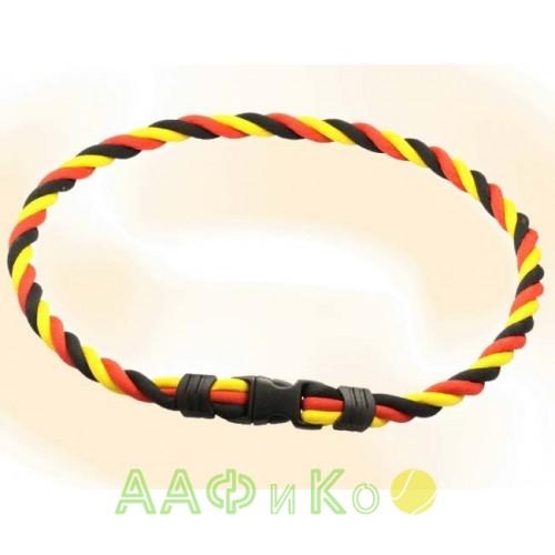 Браслет ионовый Ionen Power Halskette черный/красный/желтый Small