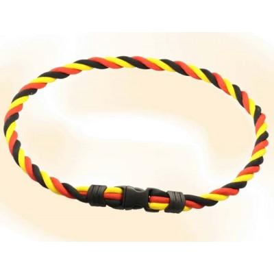 Браслет ионовый Ionen Power Halskette черный/красный/желтый Medium