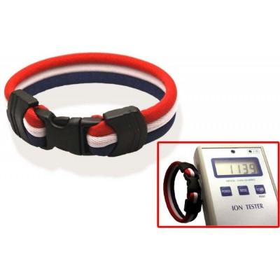 Браслет ионный Ionen Power Armband красный/белый/синий Small