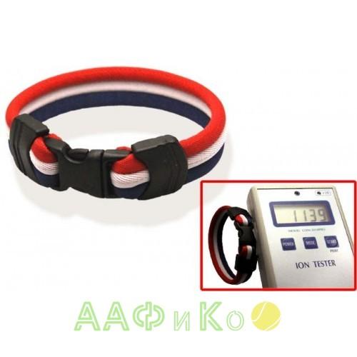 Браслет ионный Ionen Power Armband красный/белый/синий Medium