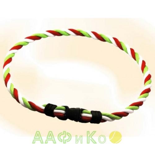 Браслет ионовый Ionen Power Halskette зеленый/белый/красный Small