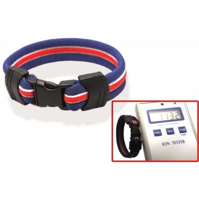 Браслет ионовый Ionen Power Armband синий/белый/красный/синий Small