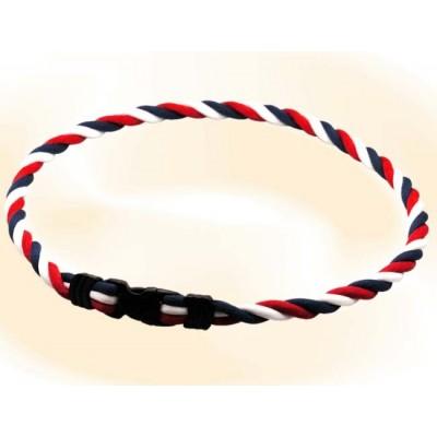 Браслет ионовый Ionen Power Halskette синий/белый/красный/синий Small
