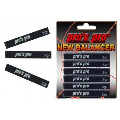 Утяжелитель для ракетки Pros Pro NEW Balancer 6шт черный