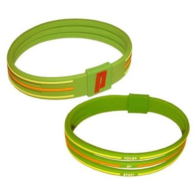 Браслет энергетический Power Band No 3 зеленый