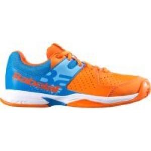 Кроссовки теннисные Babolat  PULSA JUNIOR (оранжевый/синий)