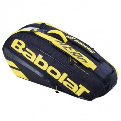 Чехол-сумка для ракеток Babolat RH X6 PURE AERO 2021 (черный-желтый)