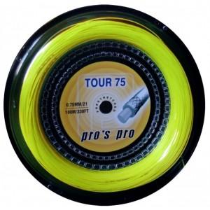 Струны для бадминтона PROS PRO Tour 75 100м жёлтые