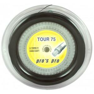 Струны для бадминтона PROS PRO Tour 75 100м чёрные