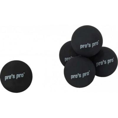 Мяч для сквоша Pros Pro Squashbälle с двумя желтыми точками