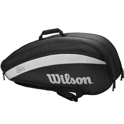 Чехол-сумка для ракеток Wilson Fed Team 6 Pack (чёрный)