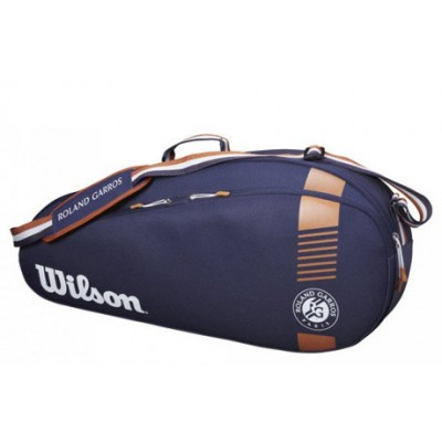 Чехол-сумка для ракеток Wilson Roland Garros Team 3 Pack (синий)