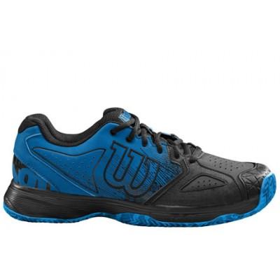 Кроссовки теннисные мужские Wilson KAOS Devo Clay (синий/черный)