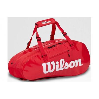 Чехол-сумка для ракеток Wilson Super Tour 2 Comp Large 9 Pack (красный)