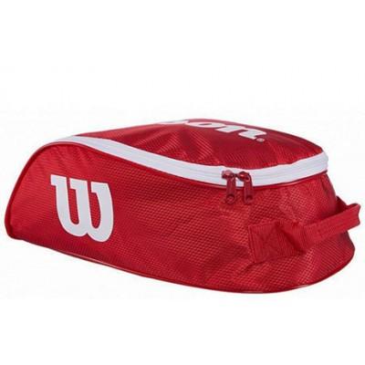 Сумка для обуви Wilson Tour IV Shoe Bag (красный/белый)