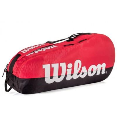 Чехол-сумка для ракеток Wilson Team 1 Comp 3 Pack (красный/черный)