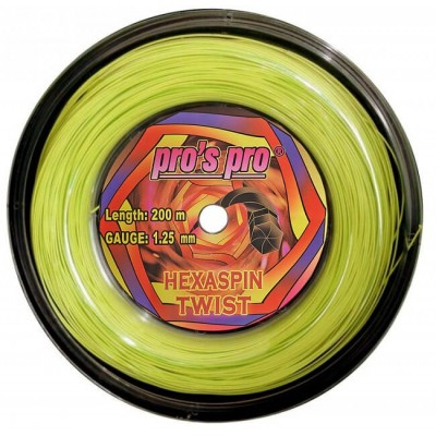 Струны теннисные Pros Pro Hexaspin Twist 1.25мм 200м lime