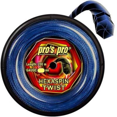 Струны теннисные Pros Pro Hexaspin Twist 1.30мм 200м ярко синие