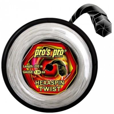 Струны теннисные Pros Pro Hexaspin Twist 1.30мм 200м белые