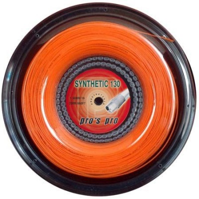 Струны теннисные Pros Pro Synthetic 130 200м  оранжевые