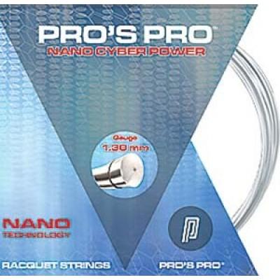 Струны теннисные Pros Pro Nano Cyber Power серебро 1.30 12м