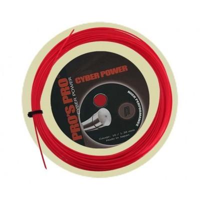 Струны теннисные Pros Pro  Cyber Power красные 1.25 12 м