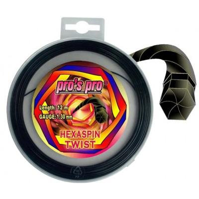 Струны теннисные Pros Pro Hexaspin Twist 1.30 12м черные