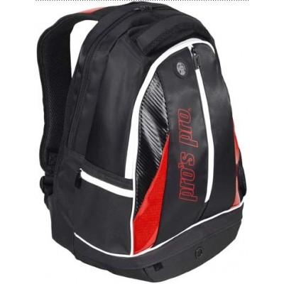 Рюкзак-сумка для теннисных ракеток Pros Pro черно красный
