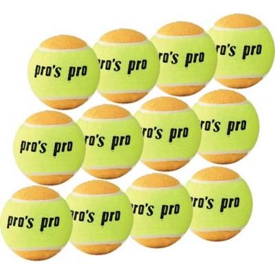 Мячи Pros Pro для пляжного тенниса  12шт желто/оранжевые