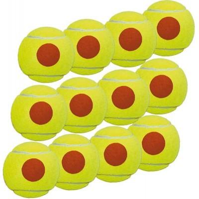 Мячи Pros pro для пляжного тенниса 12шт желтые соранжевой точкой