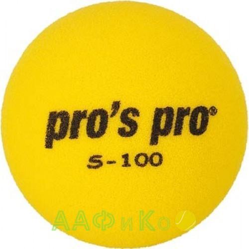 Мяч теннисный поролоновый S-100 жёлтый