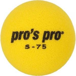 Мяч теннисный поролоновый S-75 жёлтый