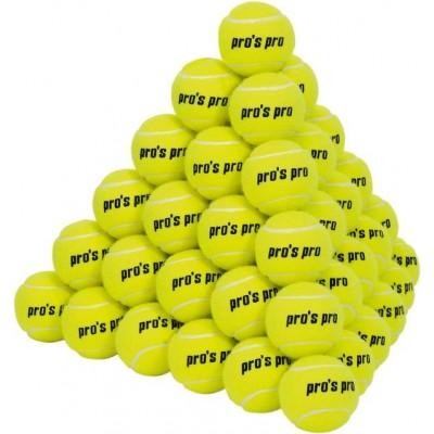 Мячи теннисные Pros Pro Soft 60шт/уп желтые АКЦИЯ