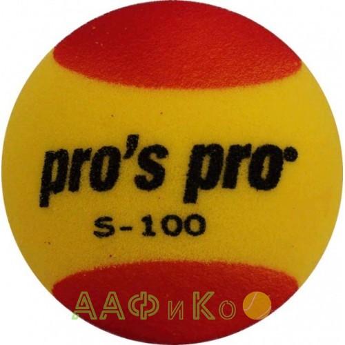 Мяч теннисный поролоновый S-100 красно-жёлтый