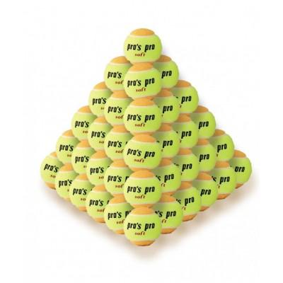 Мячи теннисные Pros pro  Soft 60шт/уп желто/оранжевые