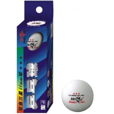 Мячи для настольного тенниса Double Fish Super 3-Star TT 3 шт белые