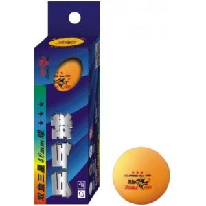Мячи для настольного тенниса Double Fish Super 3-Star TT  3шт  оранжевые
