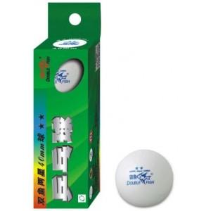 Мячи для настольного тенниса Double Fish 2-Star TT 3шт/уп белые