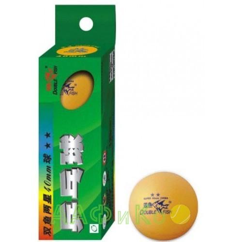 Мячи для настольного тенниса Double Fish 2-Star TT 3шт/уп оранжевые