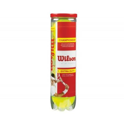 Мячи  теннисные Wilson CHAMPIONSHIP EXTRA DUTY 4 шт/уп. (WRT110000)