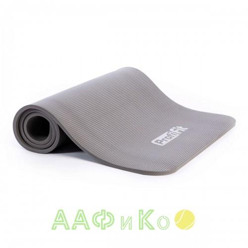 Коврик для йоги и фитнеса PROFI-FIT, 12 мм, СОФТ ЛАЙН (серый)